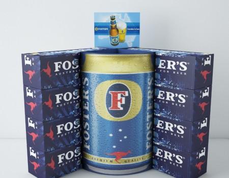 Foster's beer case stacker