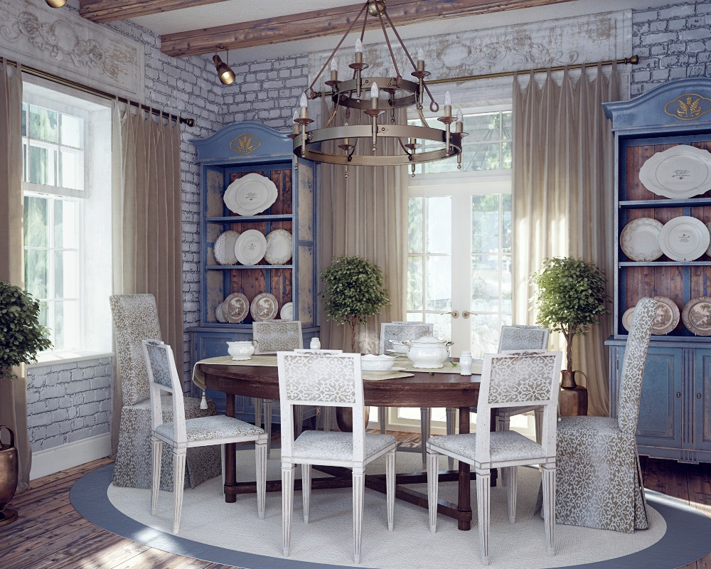 White Country Style Kitchen Units With Country Style Kitchen Furnit