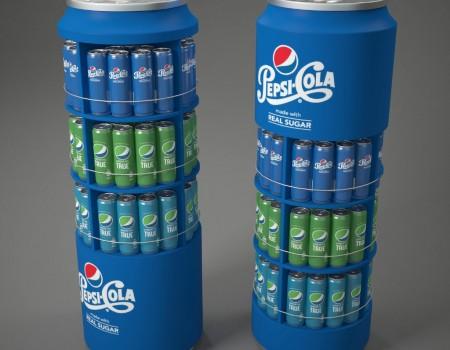 Pepsi POP display design