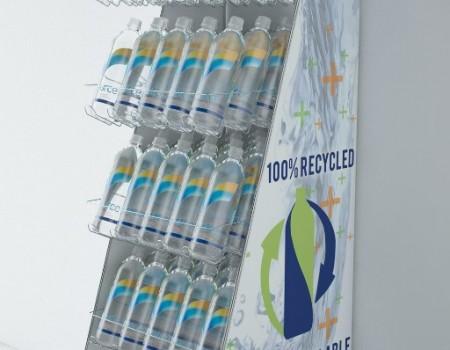 Bottled water pop display